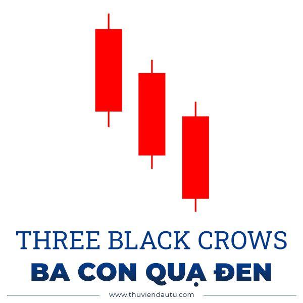 mo hinh nen ba con qua den three black crows