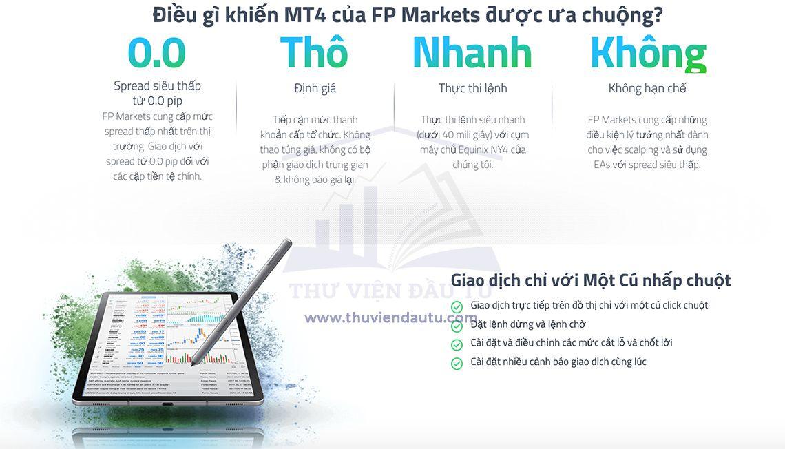 Nền tảng giao dịch của sàn FP Markets
